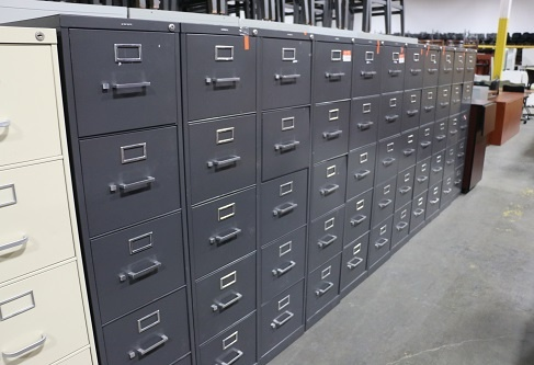 HON Dark Gray 5-Drawer Vertical Files