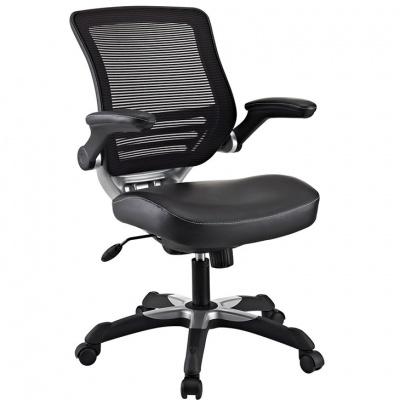 Edge Vinyl Chair in Black