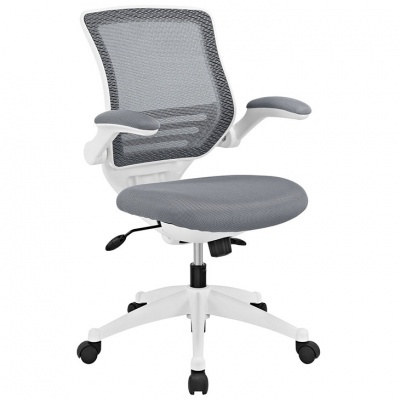 Edge Chair with White Frame in Gray
