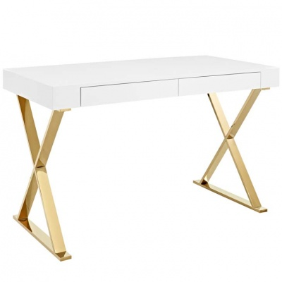 Sector Office Desk with Gold Legs