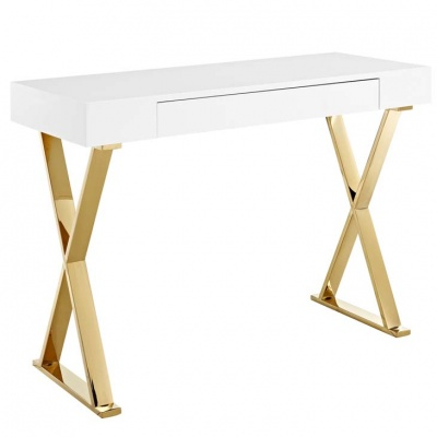 Sector Console Table with Gold Legs
