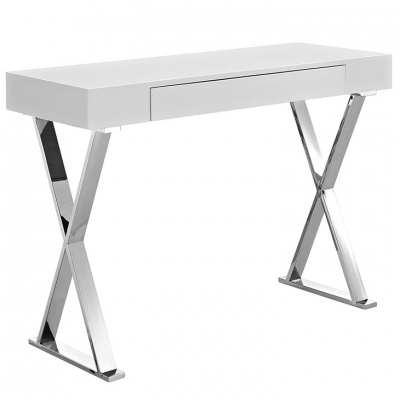 Sector Console Table with Polished Steel Base