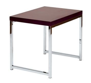 Wall Street End Table in Espresso