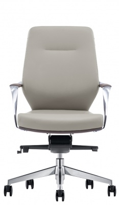 LOD45 Mid Back Leather Chair in Gray