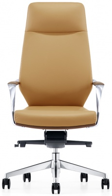 LOD48 High Back Leather Chair in Latte