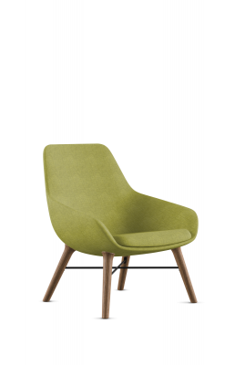 Lilly 9121 Lounge Chair with Walnut Legs