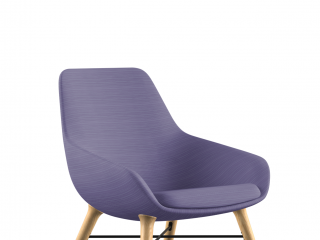 Lilly 9121 Lounge Chair with Ash Legs