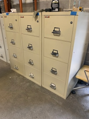 FireKing 4-Drawer Putty Vertical Files