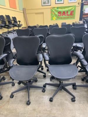Herman Miller Mirra Chairs in Black Mesh