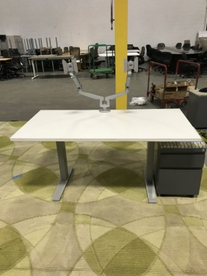 60x30 Sit-to-Stand Desks with Mobile Pedestal