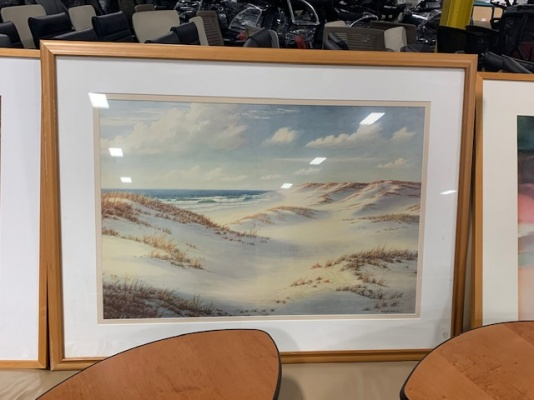 Beach Dunes Framed Art