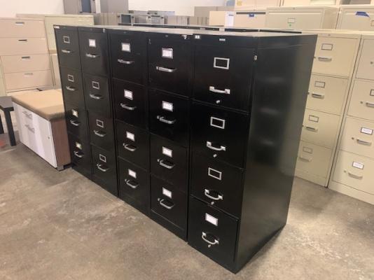 Black 4-Drawer Vertical Filing Cabinets