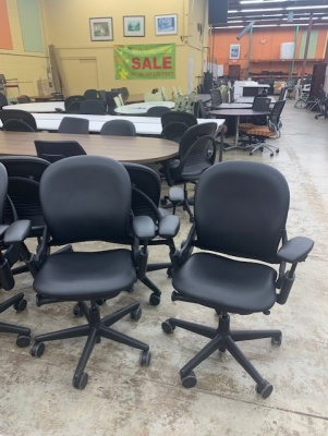 Steelcase Leather Leap V1 Chairs