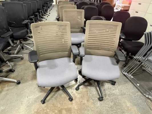 Loover Chairs with Taupe Back