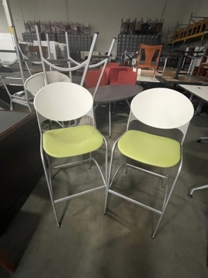 Cinch Barstools with Green Seat