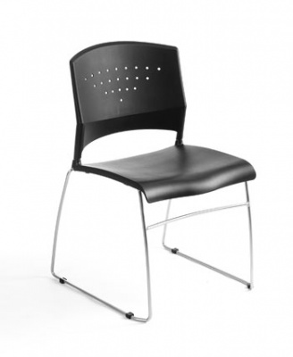 Boss Black Contemporary Stack Chair