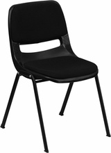 Hercules Series 880lb Capacity Stack Chair with Padded Seat and Back
