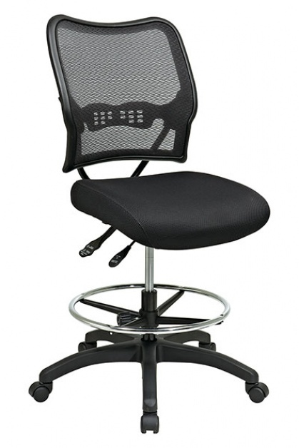 Office Star Products Office Star Space Seating Deluxe Dark AirGrid Back  Drafting Chair 13 37N30D
