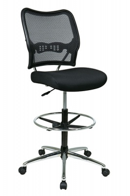 Office Star Space Seating Deluxe Dark AirGrid Back Drafting Chair 13-37P500D