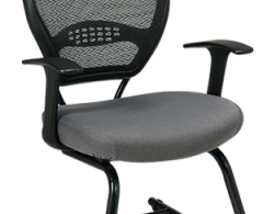 Office Star Space Seating Professional Dark Air Grid Visitor Chair 55-7V30