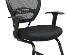 Office Star Space Seating Professional Dark Air Grid Visitor Chair 5505