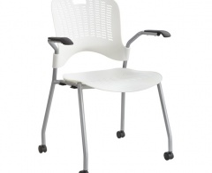 Sassy Contemporary Stack Chair on Casters