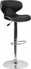 Flash Furniture Contemporary Cozy Vinyl Bar Stool DS-815-BK-GG