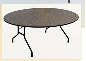Correll Solid Plywood Round Folding Table PC60P