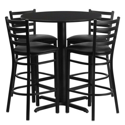 "30"" Round Bar Height Table Set with X-Base"