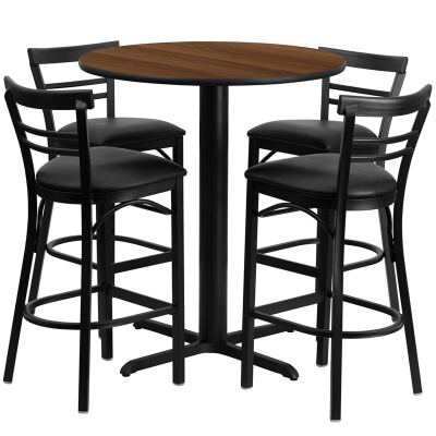 "24"" Round Bar Height Table Set with X-Base"